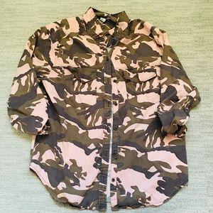 Pink Camo Button Down Shirt